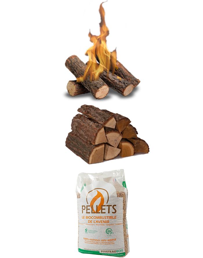 Vendeur de bois de chauffage à La Léchère